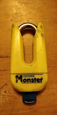 Oxford Monster Motorcycle Disc Lock Sold Secure Thatcham Approved Tested