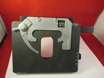 Zeiss Axiostar Stage Table Micrometer Microscope Part Optics As Pictured Ft-2-31