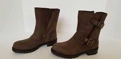 a2c6d67f2d5 UGG WOMEN'S NIELS Winter Moto Boots 1018607 Stout Leather Water ...