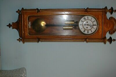 Antique Double Weighted  benson london Vienna  Wall Clock needing some work