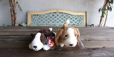 d4af478eec8 BRUNO   TRACKER Beanie Baby Dogs Lot Vintage Ty Plush Babies ...