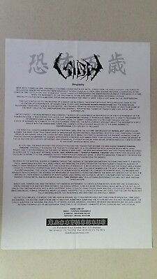 "SIGH full page biography/sell sheet ""Hail Horror Hail""-era BLACK METAL abigail"