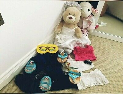 *BUILD A BEAR BUNDLE* large lamb & bear, variety of clothes,shoes, accessories