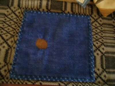 Antique linsey woolsey mat or trivit..Early Textile