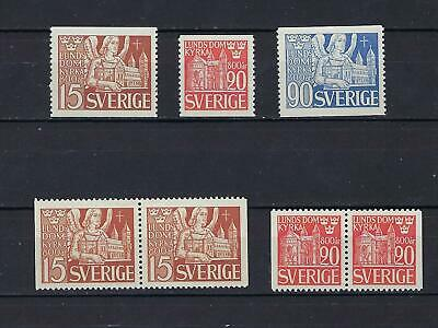Sweden Scott 369-373 MNH With Both Pairs  Scott $ 17.00