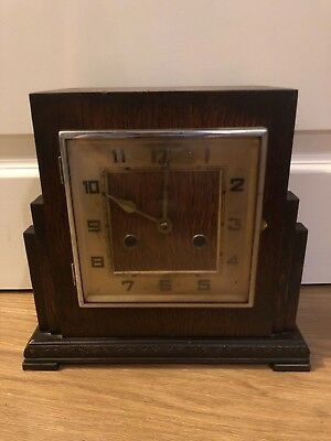 Beautiful Vintage Wooden Mantle Clock Spares/repairs