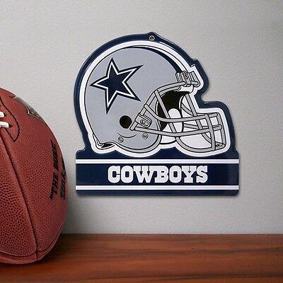 Dallas Cowboys Embossed Metal Helmet Sign NEW GAMEROOM