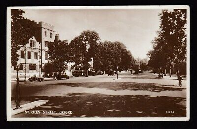Oxfordshire Oxon OXFORD St Giles St c1910/20s? RP PPC by Valentine