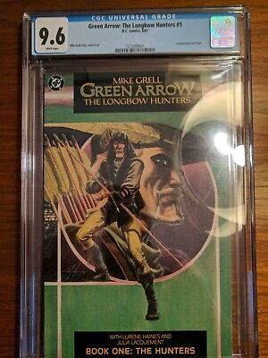 Green Arrow: The Longbow Hunters #1 CGC 9.6 White Pages DC 1987