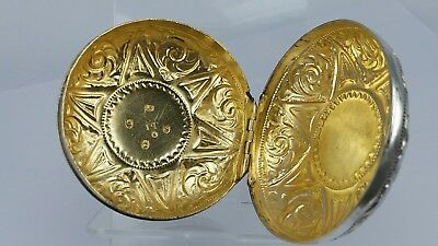 1793 Georgian silver circular box gold lined possibly a watch box by John Taylor