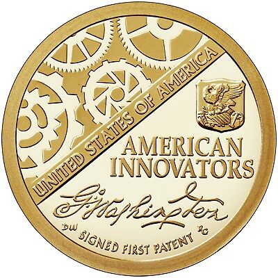 2018 S American Innovation $1 Dollar Proof Coin FIRST OF SERIES Golden Dollar