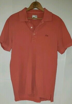 Medium 4 Rose Salmon Vintage Washed Mens Polo Size Red Lacoste Shirt Burgundy c3lK1JTF