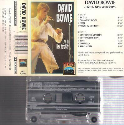 DAVID BOWIE Live in New York City   RARE ITALIAN  CASSETTE  ITALY