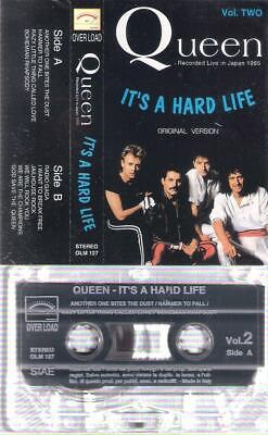 QUEEN  It´s a hard life   RARE ITALIAN  CASSETTE  ITALY   Fredie Mertcury