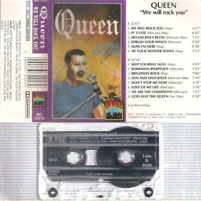 QUEEN  We will Rock you   RARE ITALIAN  CASSETTE  ITALY   Fredie Mertcury
