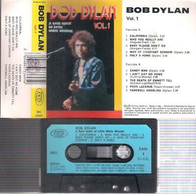 BOB DYLAN  A rare batch of little white Vol1 ITALIAN  cassette PAPER LABEL ITALY