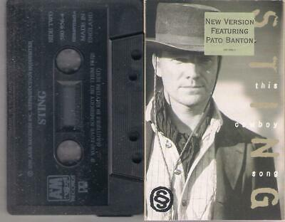 THE POLICE  STING The Cowboy song New version Pato Banton   RARE  CASSETTE
