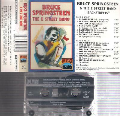 BRUCE SPRINGSTEEN & The E  Street Band RARE  ITALIAN CASSETTE ITALY  COLLECTORS
