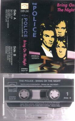 THE POLICE  Bring on the night  RARE ITALIAN  CASSETTE  ITALY       STING