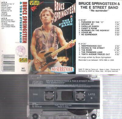 BRUCE SPRINGSTEEN   No surrender   RARE  ITALIAN CASSETTE ITALY  COLLECTORS
