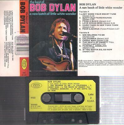 BOB DYLAN  A rare batch of little white RARE ITALIAN  cassette PAPER LABEL ITALY