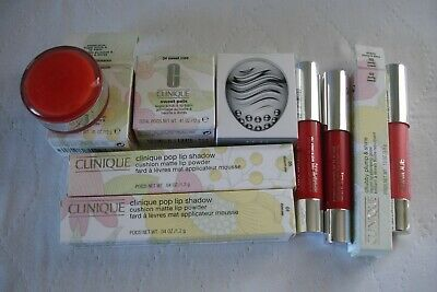 8 Clinique High End Cosmetic Items-Pop Lip Shadow-Sweet Pots-Chubby Plump Shine