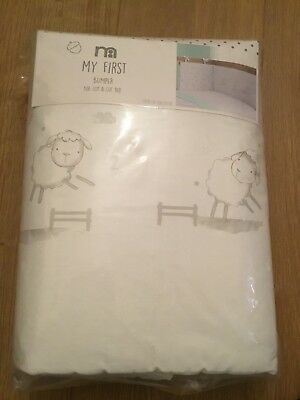 Mothercare My First Cot Bumper Suitable For A Cot / Cot Bed ** Brand New **