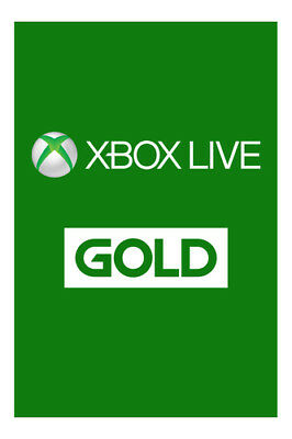 XBOX Live 1-month Gold Subscription - FREE UK POST