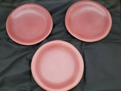 Luna Garcia Raspberry Bread and Butter Plates, Set of 3