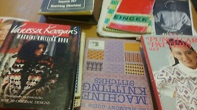 knitting machine instructions, books  and magazines.