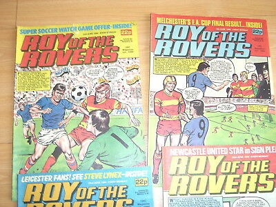 Vintage Comics Roy of the Rovers June 1984 job lot Roy of the Rovers comics