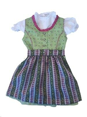 Traditional Children's Dirndl with Blouse Green Size 92 98 140 152