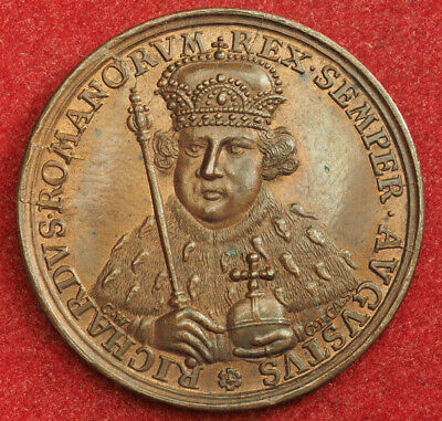 1272, Richard of Cornwall (King of Germany). Bronze Medal by Christian Wermuth.
