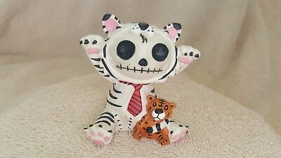 Furrybones White Tigrrr the Tiger Figurine Skull in Costume New Free Shipping