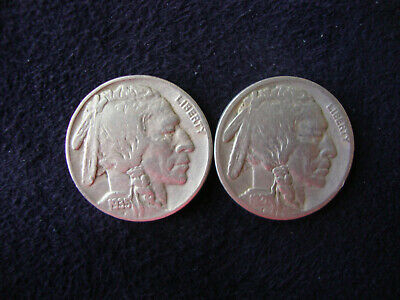 Indian Head / Buffalo Nickels: 1921 & 1935