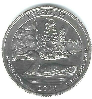 2018-P Brilliant Uncirculated Voyageurs National Park (MN) 25 Cent Coin!
