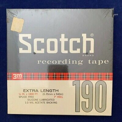 """Scotch 190 Recording Audio Tape Reel to Reel 1800' 7"""" Reel NEW and SEALED!!"""