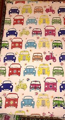 VW Camper Beetle Mini Cooper Taxi And Scooter Double Duvet Set