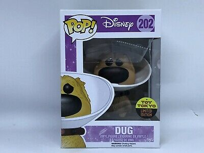FUNKO POP 2016 SDCC DISNEY MOVIE UP DUG WITH CONE #202 TOY TOKYO EXC w/ Protect