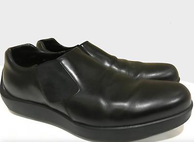 98ee79e379661 Prada Mens Shoes Black Leather Dress Loafers 9.5 Shoes Slip On Casual Italy