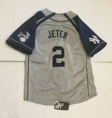 hot sale online ad62d a87c7 NIKE NEW YORK Yankees #2 Derek Jeter Sewn MLB Baseball Jersey Youth M  Women's S