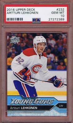 2016-17 Upper Deck Artturi Lehkonen Young Guns #232 Rookie Psa 10 Rc Ud Yg 16-17