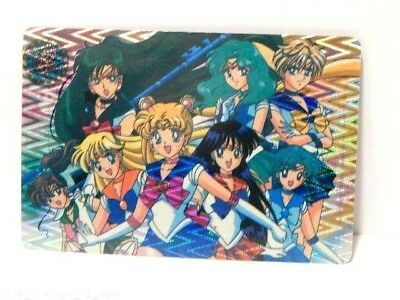 Vintage Sailor Moon Inners & Outers Bandai Prism Trading Card CARDDASS Sticker