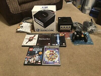 Nintendo Gamecube Black Boxed + Games Bundle Mario