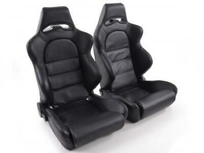 2 x Front Car Sports Seats Edition 1 artificial leather black VW Audi Seat Skoda