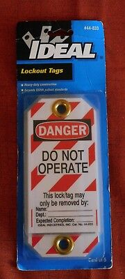"IDEAL - 44-833 Heavy-Duty Lockout Tags ""Do Not Operate"" Red Striped 5 PC"