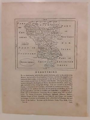 c1780s; Derbyshire, England; Antique Map; John Seller/ Francis Grose