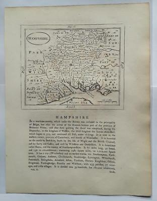 c1780s; Hampshire County, England; Antique Map; John Seller/ Francis Grose