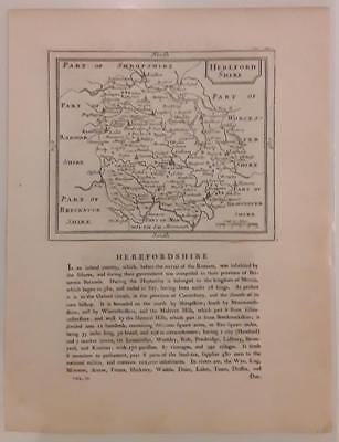 c1780s; Herefordshire, England; Antique Map; John Seller/ Francis Grose