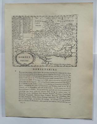 c1780s; Dorsetshire County, England; Antique Map; John Seller/ Francis Grose